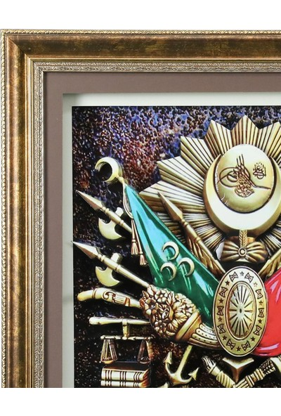 E38 Osmanlı Arması Kağıt Rölyef