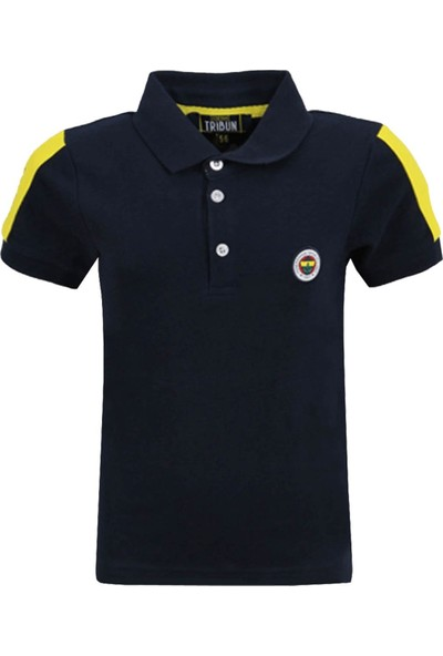 Fenerbahçe Lisanslı Polo Yaka Çocuk T-Shirt Ahşap Kutulu