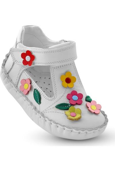 Kaptan Junior İlk Adım Deri Kız Bebek Ayakkabı