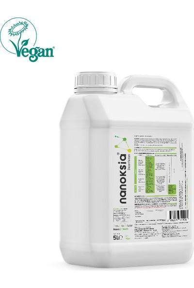 Nanoksia %100 Bitkisel, Vegan, Doğal, Alkolsüz Dezenfektan 5 Lt