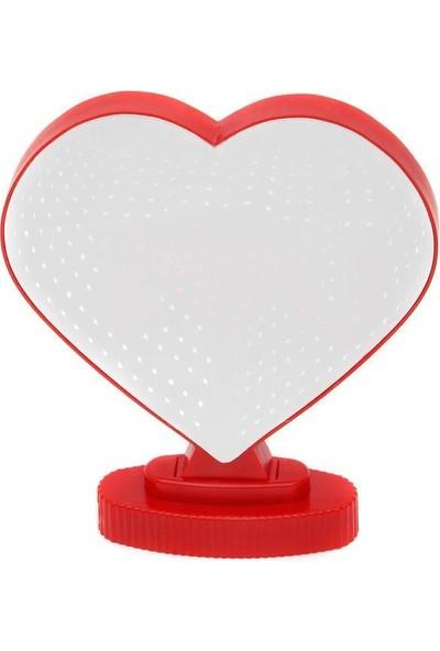 Nostaljik Lezzetler Sonsuz Kalp Gece Lambası Ayna