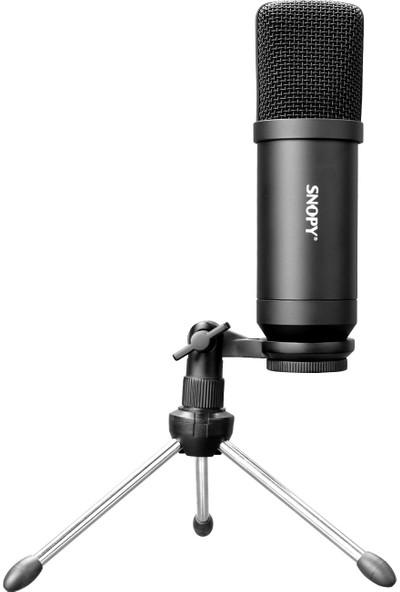 Snopy SN-11P Siyah Profesyonel Vlogging Mikrofon Seti
