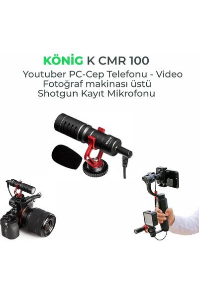 König K-CMR100 Fotograf Makinesi Üstü Mikrofon