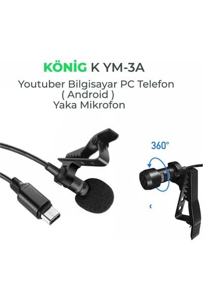 König K-YM3A Android Telefon Yaka Mikrofonu