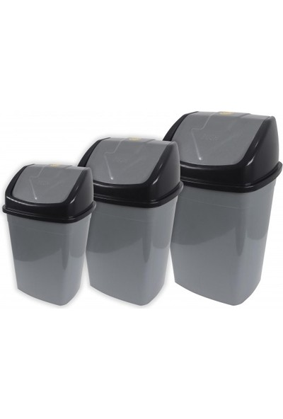 Sağlam Plastik 3'Lü Klik Çöp Kovası Set (10-15-25 lt)