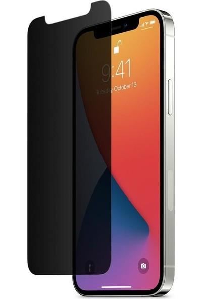 Concord Apple iPhone 12 Pro Gizli Hayalet Kırılmaz Cam Privacy Ekran Koruyucu