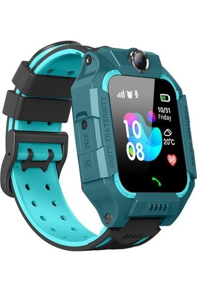 Optivals Pt- 481/2020 Sim Kartlı Kayıp Güvenlik Akıllı Çocuk Saati Mavi