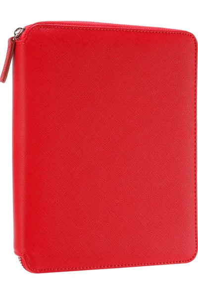 Victoria's Journals Sofia Zipper Folder Defter Noktalı Kırmızı