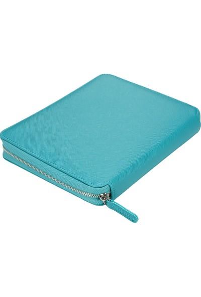 Victoria's Journals Sofia Zipper Folder Defter Noktalı Turkuaz
