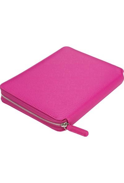 Victoria's Journals Sofia Zipper Folder Defter Noktalı Pembe
