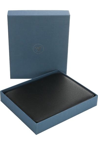Victoria's Journals Panama Zipper Folder Defter Noktalı Siyah