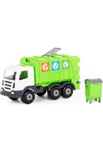 Wd Oyuncak Iş Makineleri: Yeşil Ultra Çöp Taşıma / Geri Dönüşüm Aracı - Açılır Kapanır Bölmeli.