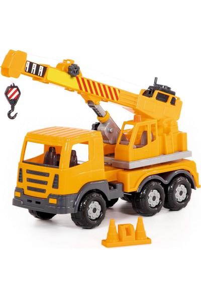 Wd Oyuncak Iş Makineleri: Vinçli Kamyon - Inip Kalkan Vinç Kolu, Trafik Kukası Içindedir.