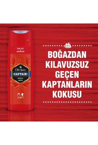 Old Spice Captain Duş Jeli & Şampuan 400 ml x 2