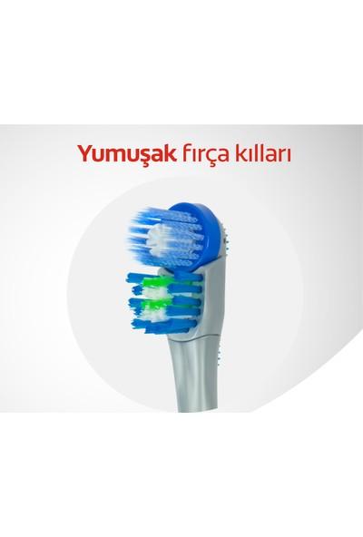 Colgate 360 Optik Beyaz Pilli Diş Fırçası Yedeği 2'li