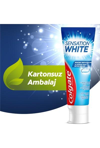 Colgate Sensation White Kartonsuz Beyazlatıcı Diş Macunu x 2 Adet + Fırça Kabı