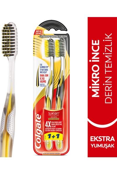 Colgate Mikro İnce Gelişmiş Gold Charcoal Derin Temizlik Ekstra Yumuşak Diş Fırçası 1+1