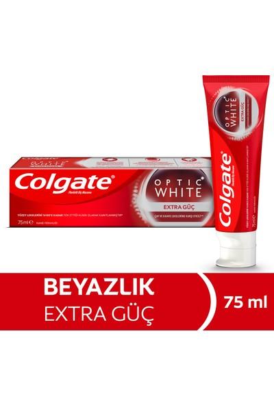 Colgate Optic White Extra Güç Çay ve Kahve Lekelerine Karşı Etkili Beyazlatıcı Diş Macunu 75 ml