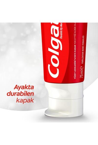 Colgate Optic White Parıldayan Beyazlık Beyazlatıcı Diş Macunu 4 x 75 ml + Diş Fırçası Kabı