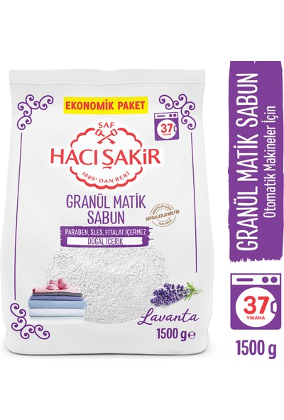Hacı Şakir Granül Matik Lavanta 1500 gr