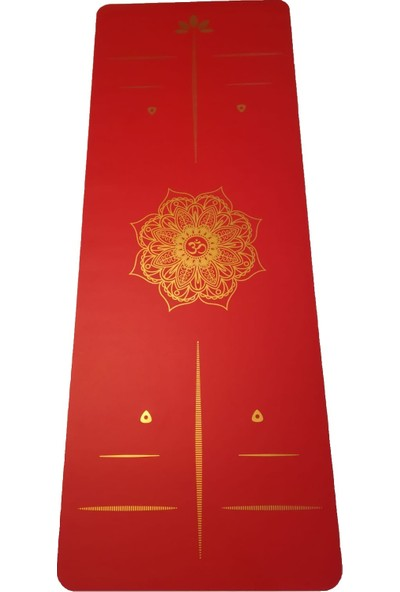 Yogatime Rubber Yoga/pilates Mat Golden Line 5 Mm. Mandala Kırmızı