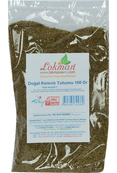 LokmanAVM Doğal Kereviz Tohumu 100 gr Paket