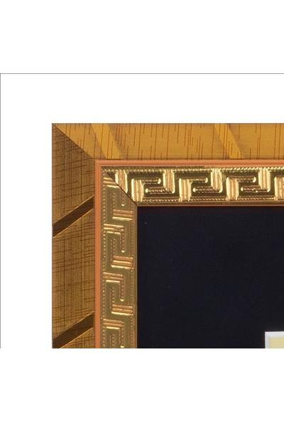 Yavuz Selim Çerçeve Besmele Hat Sanatı Tuğra Temalı 30X22.5 cm Tablo