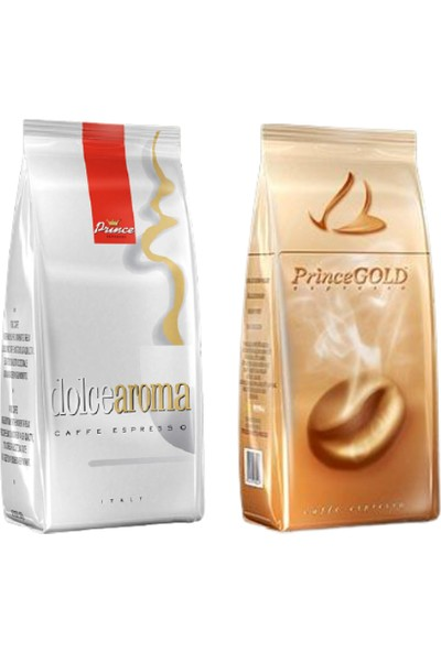 Prince Dolce Espresso 1kg ve Prince Gold Espresso 1 kg Avantajlı Paket