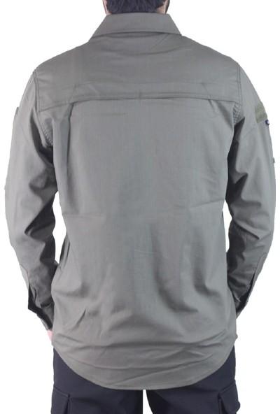 İstikamet Outdoor Combat Fonksiyonel Cepli Yeşil Renk Koruma Gömleği