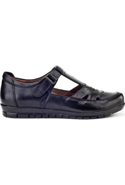 Cabani Kadın Cırt Bantlı Comfort Günlük Ayakkabı 431 Siyah