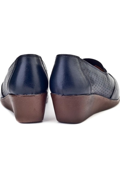 Cabani Kadın Dolgu Topuk Günlük Ayakkabı 834 Lacivert