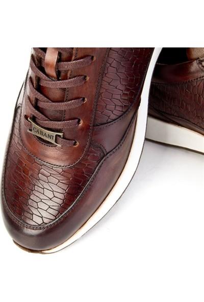 Cabani Erkek Lazer Detaylı Bağcıklı Günlük Ayakkabı 318M548A Kahve