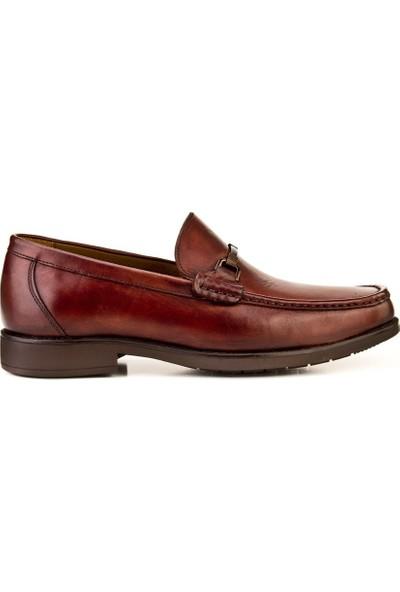 Cabani Toka Detaylı Bağcıksız Loafer Ayakkabı 466M1298 Kahve