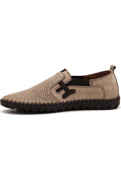 Mammamia D21YA-7015 Erkek Nubuk Ayakkabı - Krem - 42