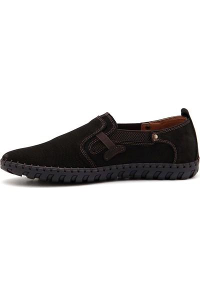 Mammamia D21YA-7015 Erkek Nubuk Ayakkabı - Siyah - 44