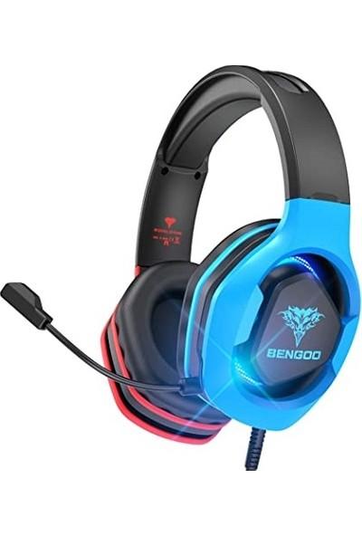 Bengoo Oyuncu Kulaklığı Mavi - Siyah