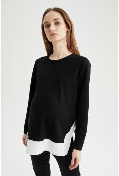 DeFacto Hamile Renk Bloklu Sweatshirt