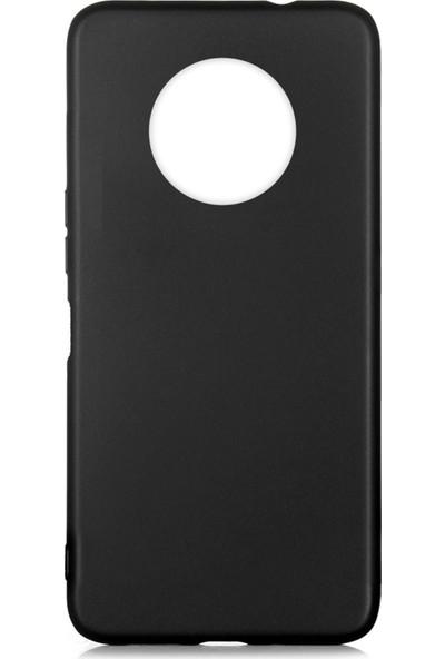 Hesaplı Dünya Infinix Note 7 Kılıf Mat Renkli Esnek Silikon Siyah Renk Prm