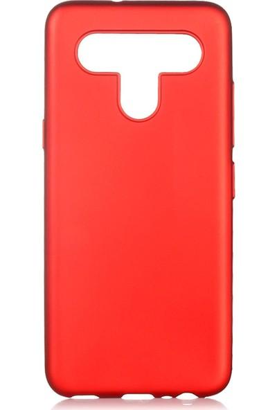 Hesaplı Dünya Lg K41S Kılıf Mat Renkli Esnek Silikon Kırmızı Renk Prm
