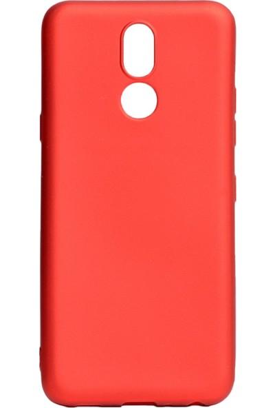 Hesaplı Dünya Lg K40 Kılıf Mat Renkli Esnek Silikon Kırmızı Renk Prm