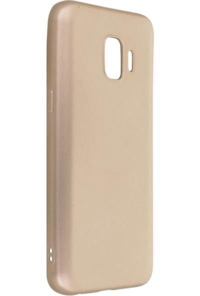 Hesaplı Dünya Samsung Galaxy J2 Core Kılıf Mat Renkli Esnek Silikon Gold Renk Prm