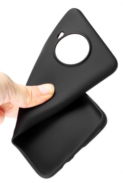 Hesaplı Dünya Samsung Galaxy S20 Kılıf Mat Renkli Esnek Silikon Siyah Renk Prm