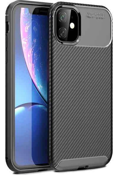 MBT Apple iPhone 11 Kılıf Sert Korumalı Zırh Karbon Fiber Kapak