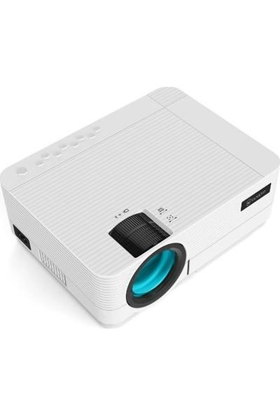 Leisure 470 Wifi + Hoparlör Mini Projeksiyon 3500 Ansı, 1080P, 2000:1, 50,000 Saat