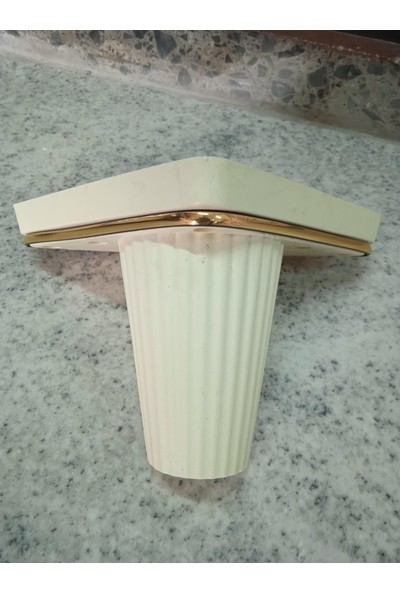 Plastik Ayak Diyarı Modern Zen 12 cm Krem Dekoratif Koltuk,kanepe,mobilya ve Baza Ayağı Modelleri
