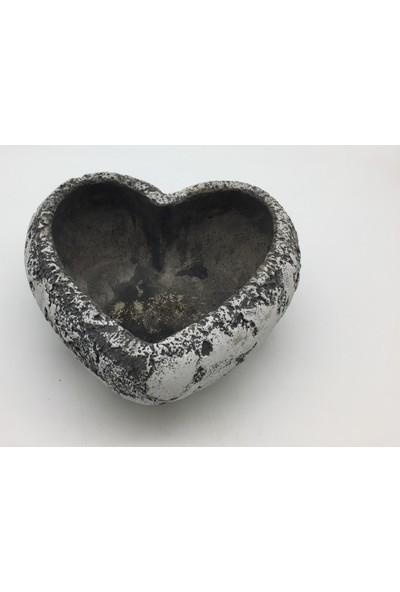 Afloday Kalp Şekilli Beton Saksı - L