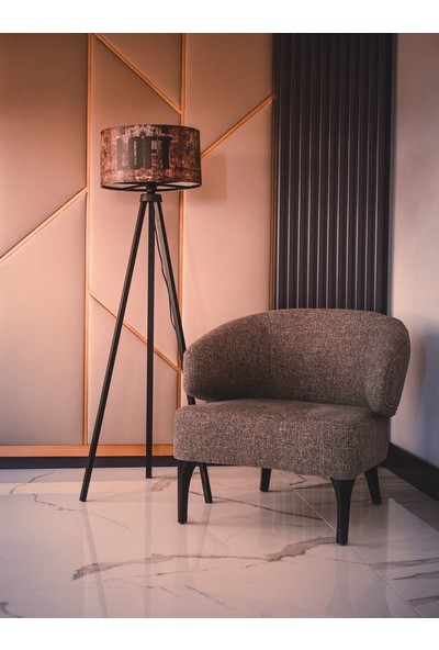 Dekoratif Dekoratifs Tripod Ahşap 3 Ayaklı Lambader Abajur Loft Renkli