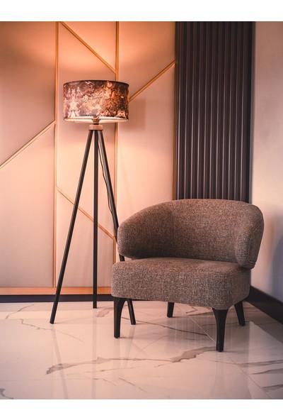Dekoratif Dekoratifs Tripod Ahşap 3 Ayaklı Lambader Abajur Mist Renkli