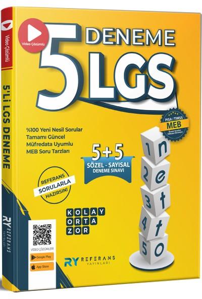 Referans Yayınları 2021 8. Sınıf LGS Tamamı Video Çözümlü 5 Fasikül Genel Deneme Seti (Kolay-Orta-Zor)