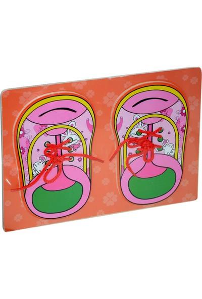 Onyıl Oyuncak 0158//0159 Hf-Pt Ahşap Düğmeli Ayakkabı